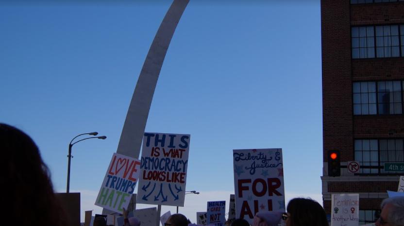 Women's March in St. Louis: Photo Series