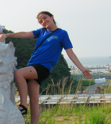 Maggie Moran poses on her trip to Korea this summer